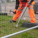 High Visibility Pedestrian Barrier Heras