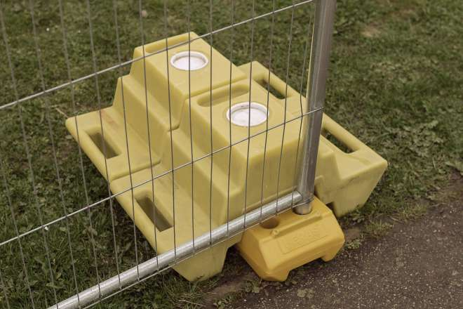 Heras temporary fencing Ive 5987 Step Block