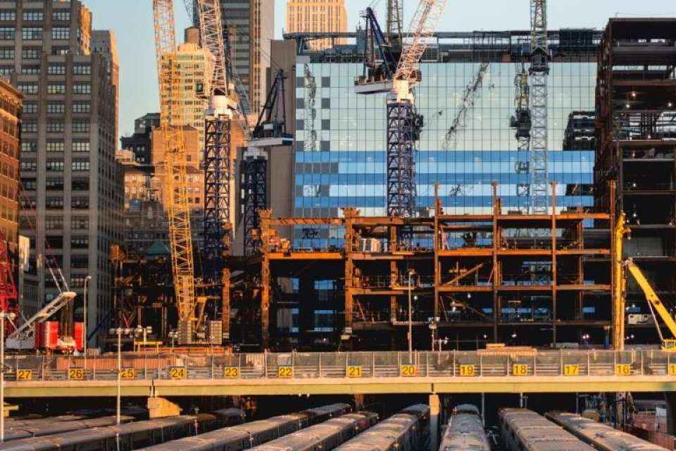 Soundproof walls used as hearing protection around construction sites